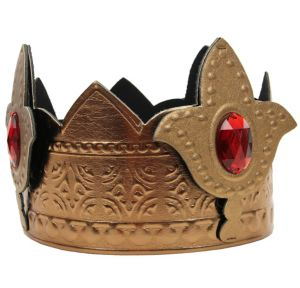 Red Jeweled Gold King Crown