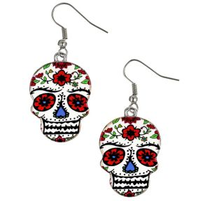 Sugar Skull Earrings - Day of the Dead