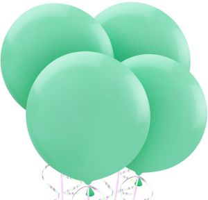 Robin's Egg Blue Balloons 4ct
