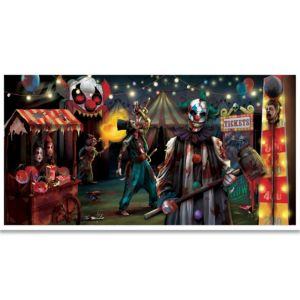 Giant Evil Circus Banner - Creepy Carnival