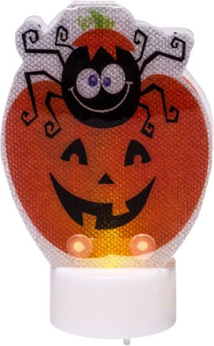 Prismatic Jack-o'-Lantern Flameless Tealight Candle