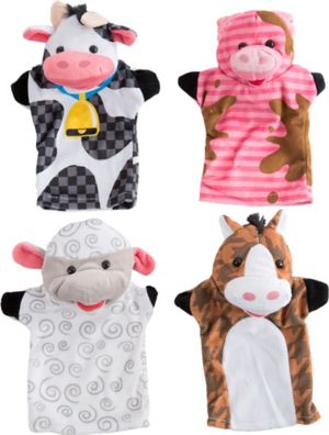 Farm Friends Hand Puppets 4pc