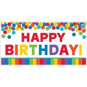 Giant Rainbow Birthday Banner