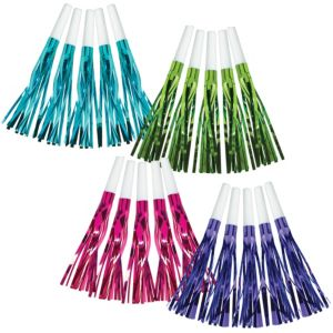 Purple & Teal Pastel Fringe Squawkers 30ct