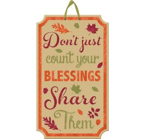 Glitter Count Your Blessings Fall Sign