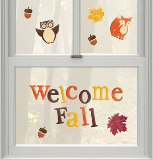 Welcome Fall Gel Cling Decals 21ct