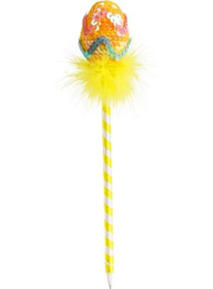 Yellow Chevron Easter Egg Pen