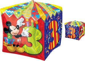 3rd Birthday Mickey Mouse Balloon - Cubez
