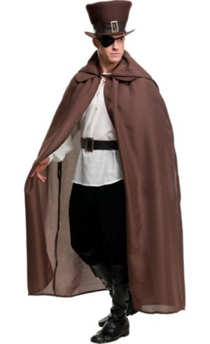 Brown Burlap Hooded Cloak