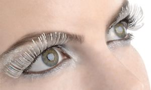 Self-Adhesive White Tinsel False Eyelashes