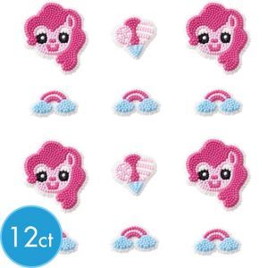 Pinkie Pie Icing Decorations 12ct - My Little Pony