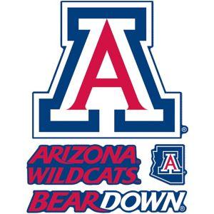Arizona Wildcats Decals 4ct