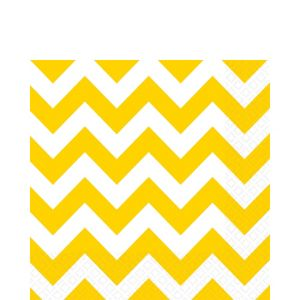 Sunshine Yellow Chevron Lunch Napkins 16ct