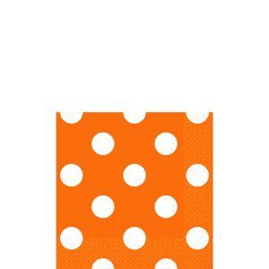 Orange Polka Dot Beverage Napkins 16ct