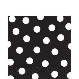 Black Polka Dot Lunch Napkins 16ct