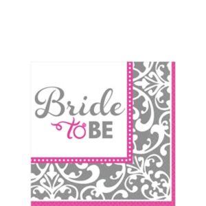 Metallic Bride to Be Beverage Napkins - Classy Bride 16ct