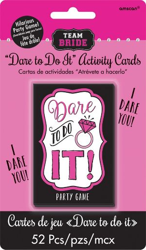 Team Bride Dare to Do It Bachelorette Party Game
