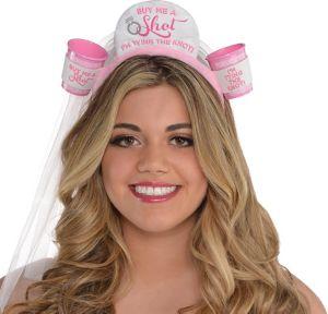 Classy Bride Shot Glass Headband