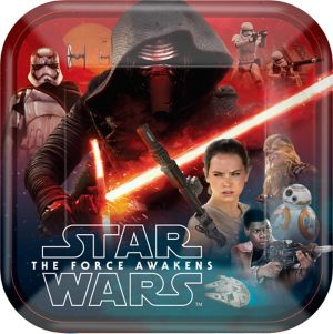 Star Wars 7 The Force Awakens Lunch Plates 8ct