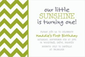 Custom Kiwi Chevron Invitations