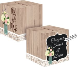 Rustic Wedding Card Holder Box
