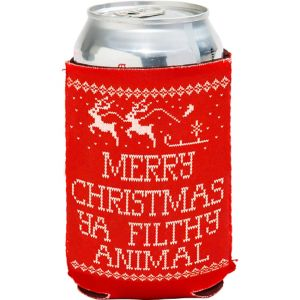 Merry Christmas Ya Filthy Animal Can Coozie