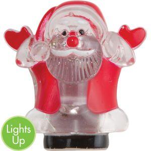 Light-Up LED Santa Pin