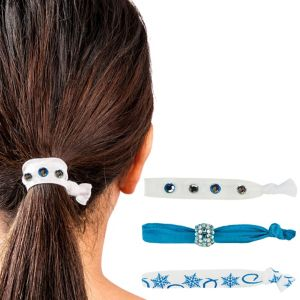 Snowflake Ribbon Hair Ties 3ct
