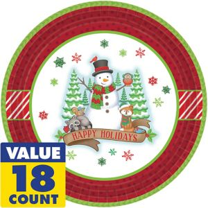 Winter Friends Lunch Plates 18ct