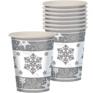 Sparkling Snowflake Cups 8ct