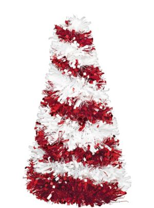 3D Candy Cane Tinsel Christmas Tree