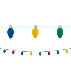 Christmas Lights Honeycomb Garland