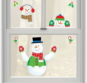 Build-a-Snowman Cling Decals 22ct