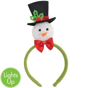 Child Light-Up Green Snowman Headband