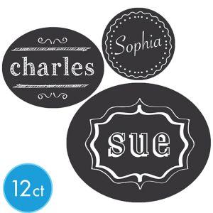 Chalkboard Drink Labels 12ct