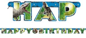 Jurassic World Birthday Banner
