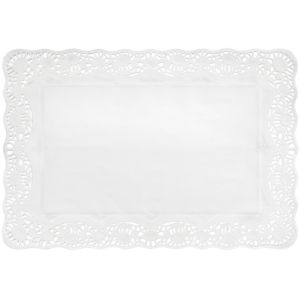 White Paper Placemat Doilies 9ct