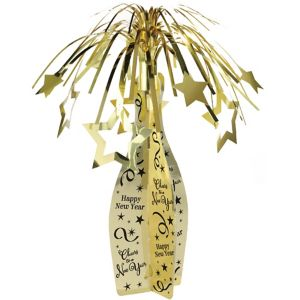 Gold Happy New Year Cascade Centerpiece - Bubbly Celebration