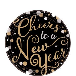 Cheers to a New Year Dessert Plates 18ct - Bubbly Celebration