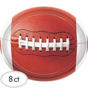 Football Paper Platters 8ct