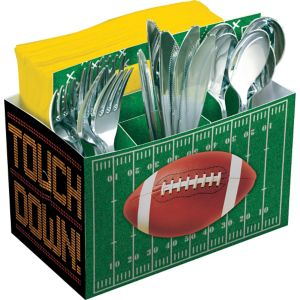 Football Field Paper Utensil Caddy