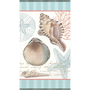 By the Sea Seashell Guest Towels 16ct