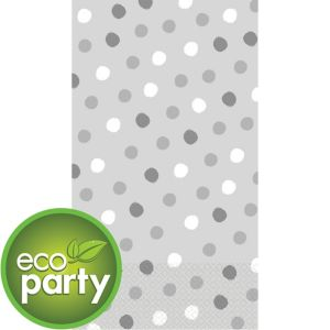 Eco-Friendly Whimsical Silver Dots Guest Towels 16ct