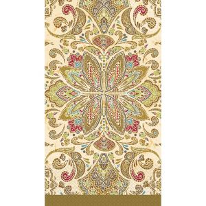 Textured Paisley Guest Towels 16ct