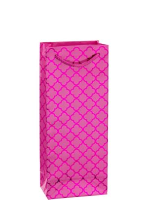 Metallic Bright Pink Moroccan Bottle Bag