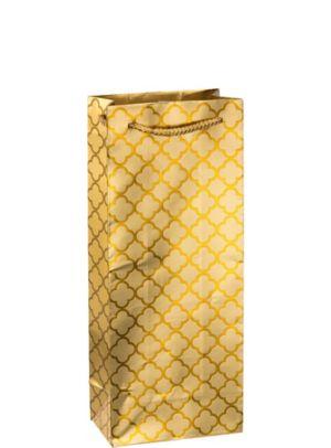 Metallic Gold Moroccan Bottle Bag