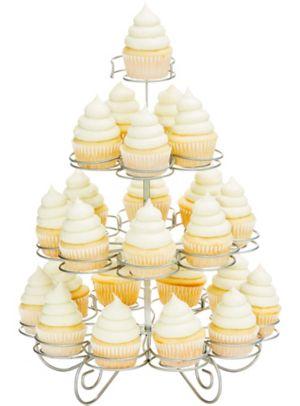 Silver Wire Mini Cupcake Stand