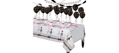 Pink Paris Party Supplies Super Party Kit
