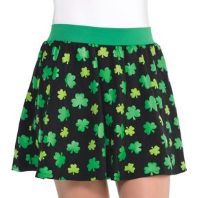 Black Shamrock Skirt