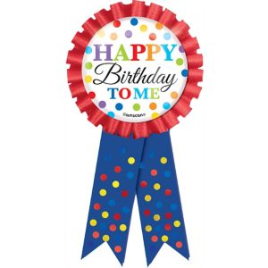 Rainbow Dot Birthday Award Ribbon